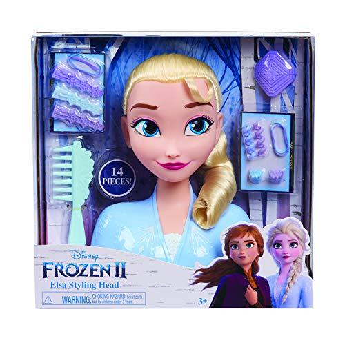 Busto Elsa de Frozen 2 con 14 diferentes accesorios con que peinarla. Para niños/as a...