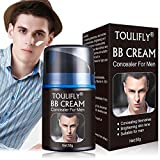 BB Cream For Men,Men's Revitalising Nourishing Tone Up BB Cream,Concealer For Men,CC Cream For Men,Big Pores Perfect Cover,Face Primer,Skin Corrector,Suitable for All Skin Types (Black)