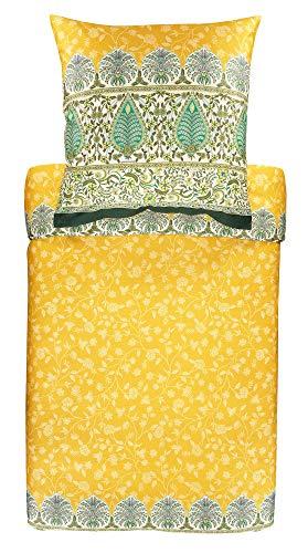 Bassetti Barisano Juego de Cama, Algodón, I1 Yellow, 240 x 220 cm (80 x 80 cm)
