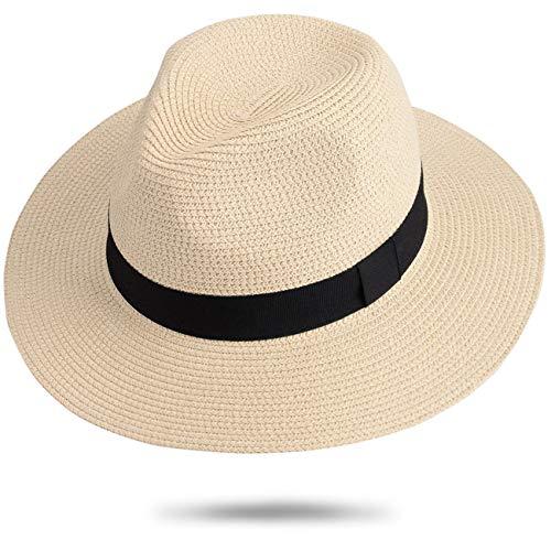 Maylisacc Sombrero Panamá Unisex Sombrero Paja Sombrero