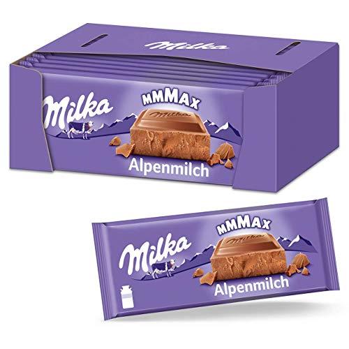 Milka Alpenmilch 16 x 270g Großtafel, Klassische zartschmelzende Schokoladentafel aus Alpenmilch
