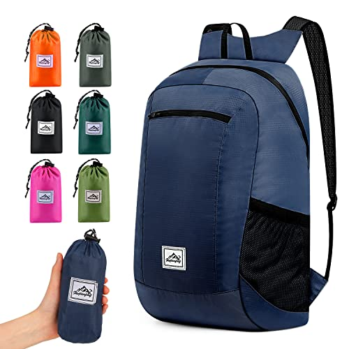 Hiking Backpack Ultra Lightweight Packable Camping Backpack Waterproof Travel Outdoor Hiking Daypack for Women Men(NAVY 16L)