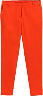 La Redoute Collections Womens Cotton Satin Slim Fit Trousers, Length 31.5