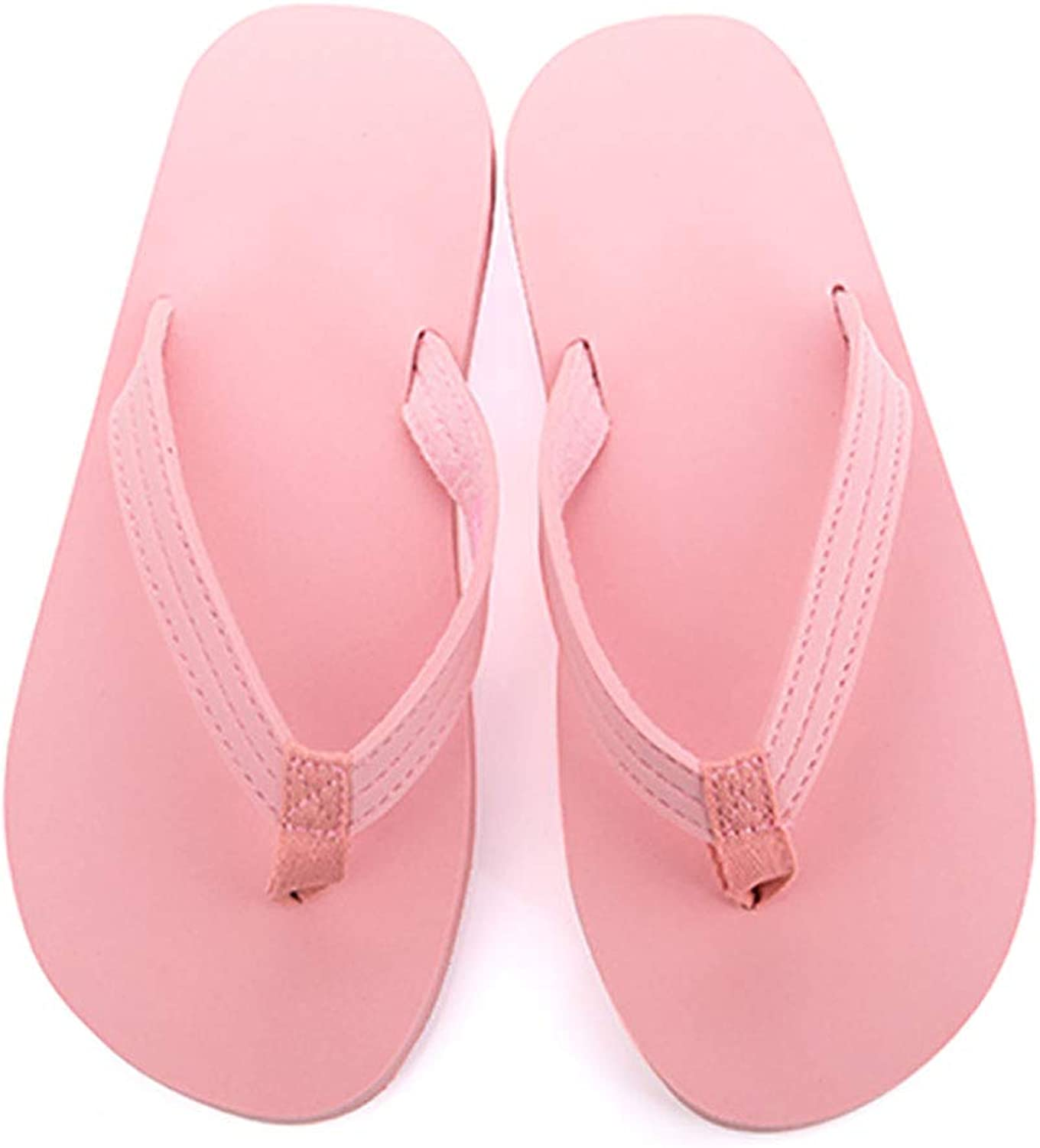 HUYP Pink Sweet Girl Sandals and Slippers Ladies Flip Flops Fashion Summer Beach Tide Slippers (Size   6 US)