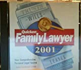 Quicken Family Lawyer 2001: Your Comprehensive Personal Legal Source