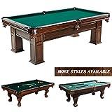 """Barrington Woodhaven Premium Billiard Pool Table, Extra Large, 100"""" - Wood Billiards, Pool, and..."""
