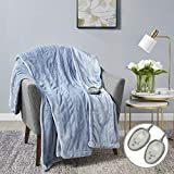 MP2 Heated Electric Plush Blanket King Size with 20 Heat Settings and 10 - Hour Auto Shut Off 100' x...