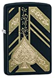 Personalized Zippo Ace of Spades Matte Black Windproof Lighter Free Engraving #29998