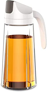 AIWANTO Oil Dispenser Bottle, Glass Vinegar Dispensing Cruets, 600ml Leakproof Condiment Container with Automatic Cap and ...