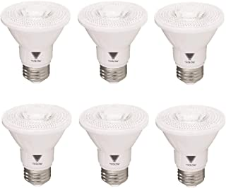 TriGlow T97003-6 (6-Pack) 7-Watt (50W Equivalent) PAR20 LED Bulb, CRI 90 500 Lumens, DIMMABLE Bulb, Daylight Color 5000K, UL Listed, Pack of 6 Bulbs