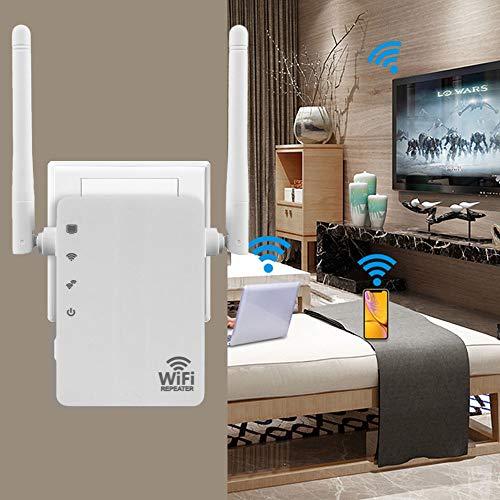 ATopoler Repetidor WiFi Casa 1200mbps Amplificador de WiFi 5GHz & 2.4Ghz Inalambrico 300m con Puerto Ethernet 4 Antenas Externas