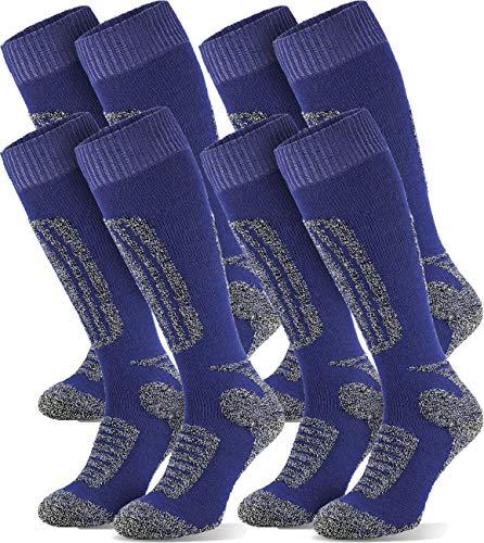 Chaussettes de ski pour homme | Chaussettes de ski | Chaussettes de sport | Chaussettes fonctionnelles | Chaussettes de ski | 4 paires Bleu – 47/50