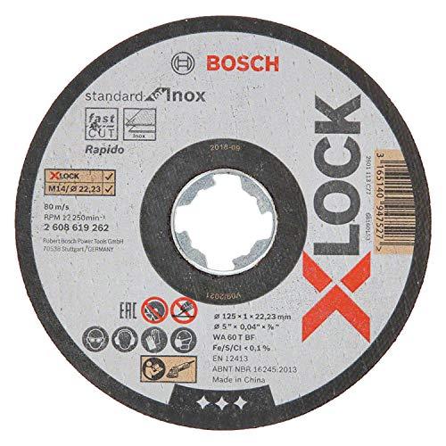Bosch Professional gerade Trennscheibe Standard (für Inox, X-LOCK, Ø125 mm, BohrungsØ: 22,23 mm, Dicke:1 mm)