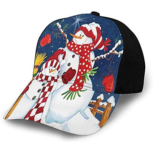 Egoa Gorra Strapback Vacaciones De Invierno Feliz Navidad Feliz Muñeco De Nieve Gorra De Béisbol De Dibujos Animados Acogedor Personalizado Hiphop Sombrero De Papá Diseño De Sombrero D