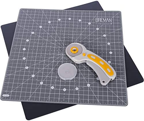 WA Portman Rotating Cutting Mat and Rotary Cutter Set Fabric Cutting Board for Sewing 13x13 product image