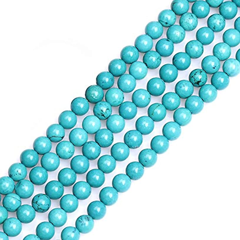 GEM-inside Gemstone Loose Beads Turquoise Dyed 6mm Round Energy Stone Power Beads for Jewelry Making 15