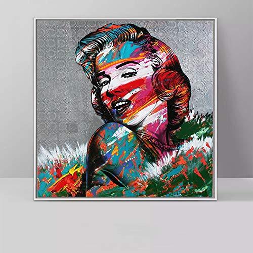 fdgdfgd Estrella de Cine de Hollywood Marilyn Monroe (Marilyn Monroe) impresión de Arte decoración de Sala de Estar película Fan Lienzo Pintura