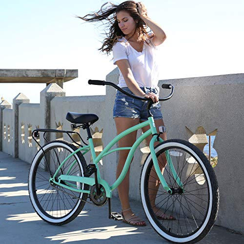 51bkSUbut+L. SL500 Schwinn Perla Womens Beach Cruiser Bike