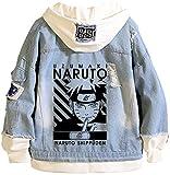 PANOZON Chaqueta Naruto para Hombre Sudadera con Capucha de Anime Impresión Figuras de Naruto Shippu...