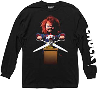 Chucky Adult Unisex Childs Play 2 Poster with Sleeve Hit Heavy Weight 100% Cotton Long Sleeve Crew T-Shirt
