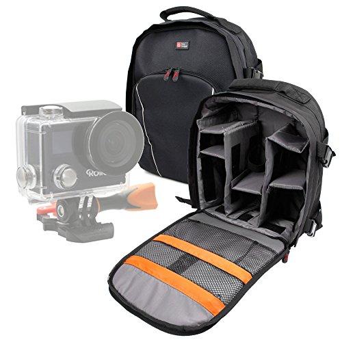 DURAGADGET Mochila Resistente Al Agua + Funda Impermeable para Cámara de acción Insta360 Nano/Kitvision 4KW / Immerse 360 / Paono 360 / Rollei Actioncam 430 / TecTecTec! XPRO360+