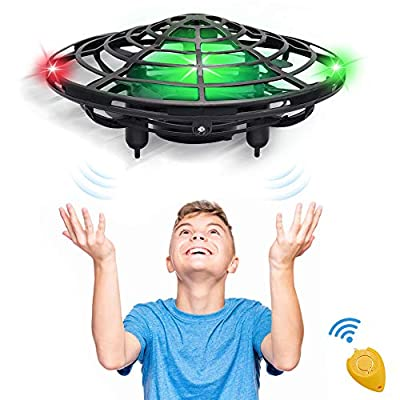 Hand Operated Kids Drone, CPSYUB Hands Free Mini Drone Helicopter for Kids, Flying Drone Kids Toys for 4, 5, 6, 7, 8, 9, 10, 11, 12 Year Old Boys or Girls Gifts (Black) from CPSYUB