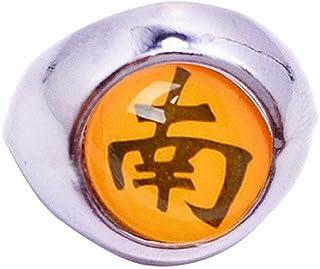 Legisdream Anello con Immagine Manga Color Arancio Argento Gioiello Originale Idea Regalo per Ogni Occasione