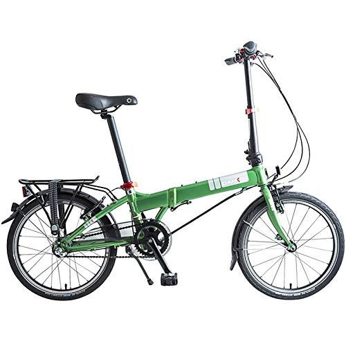 Dahon Mariner i3, Bicicleta Plegable Unisex Adulto, Verde, 20 Pulgadas