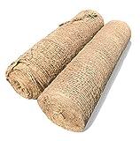 Sandbaggy Jute Netting Roll - Erosion Control Matting Blanket - Jute Matting - Jute Mesh Blanket - Jute Netting Installation for Erosion Control - 225 ft Length by 4 ft Width (2 Rolls)