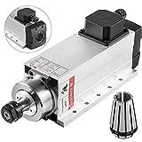 Mophorn Spindle Motor 4KW Square Air Cooled Spindle Motor ER20 Collect 18000RPM 220V CNC Spindle...