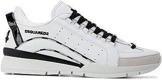 Luxury Fashion   Dsquared2 Men SNM012201503113M072 White Leather Sneakers   Autumn-winter 20