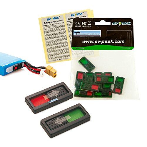 EV-PEAK 10x Akku Ladezustandsanzeiger Charge Marker Li-Po Check - Drohnen Zubehör