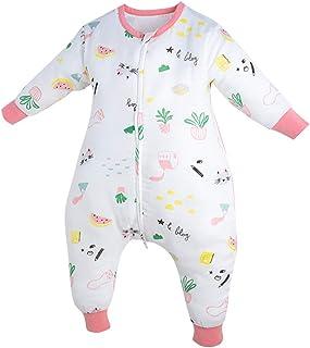 Bebé Saco de Dormir para con pies Verano Primavera otoño Todo el año Pijama de Mameluco de Manga Larga