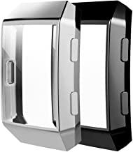 Haojavo Screen Protector for Fitbit Ionic Case, 2 Pack Slim Fit TPU All-Around Full Front Screen Protective Case for Fitbit Ionic Smart Watch Bands Accessories