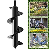 Feathernie Garden Auger Drill Bits 3.5' x 10' Non-Slip Spiral Hole Drill Digger- Bulb Planter Tool- Planting Auger for Drill for Hex Drive Drill - Planting Bedding Bulbs Seedlings