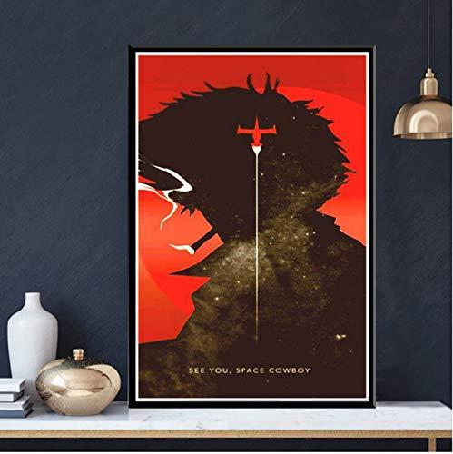NVRENHUA Cuadro en Lienzo Cowboy Bebop Anime Poster Arte de