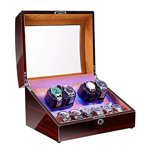 ZCYXQR Enrollador de Reloj automático para 4 Relojes + 6 de Almacenamiento...