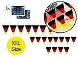TK Gruppe Timo Klingler Girlande Wimpelkette Deutschland schwarz, rot, gelb Kette Flaggenkette Fahnenkette Draußen und Drinnen wm 2018 Deko Dekoration Fußball Fußballdekoration
