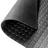 Suelo de círculos negro de 3 mm por rollo 1,50 x 15 m