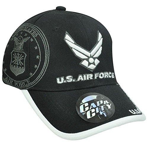 US Air Force Military Dichtung Lizenzprodukt schwarz weiß hat Cap