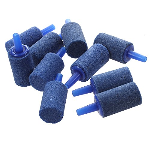 SODIAL(R) 10 Pcs Pierre bleue d'air reservoir de poissons d'aquarium de diffuseur d' oxygene 15*25mm