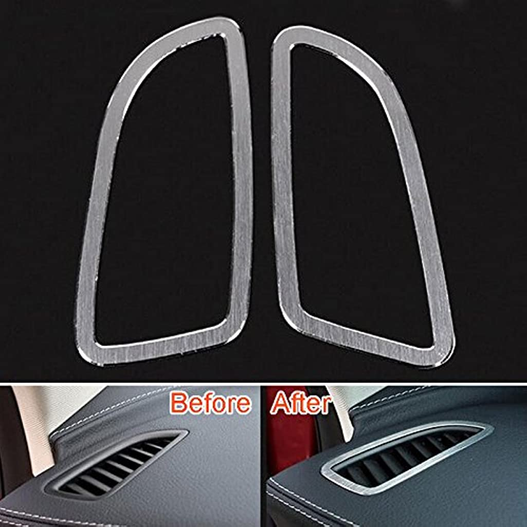 Jicorzo - Dashboard Air Conditioning Vent Cover Trim Frame Decor Car Styling Sticker For Mercedes Benz C Class C200 GLC260 2015 Accessory