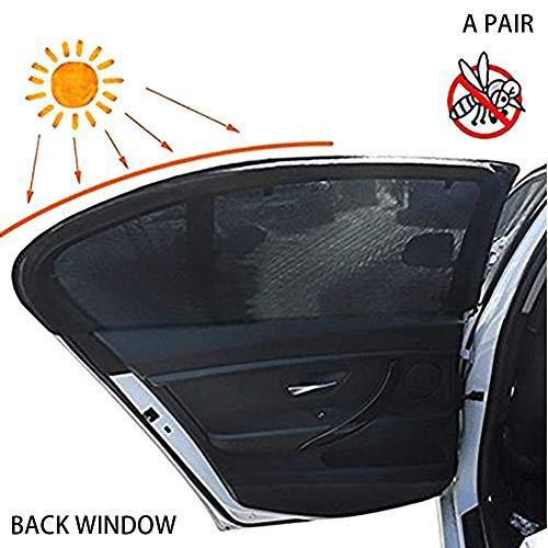 Xiton 2 STÜCKE Autofenster Sonnenschutz Atmungsaktives Maschen-Auto-RüCkseite, Die Moskitonetz Blockiert SchüTzt Ihr Baby Und Ihre Familie Vor UV-Strahlung Fit FüR Die Meisten Autos (Frontscheibe)