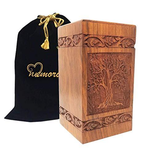 Memorials4u Solid Rosewood Cremation Urn