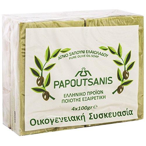 Grüne reine Olivenölseife Griechisch traditionell