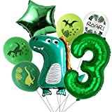Baby Dinosaur Balloons Theme Party Decor Dinosaur Decorations for Birthday Party for Boys or Girls 3rd Birthday Party Supplies(3rd)