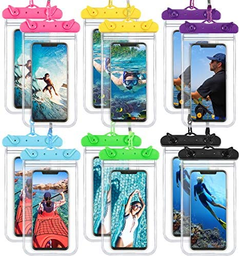 18 Pieces Universal Waterproof Phone Bag Underwater Case Clear Cellphone Dry Bag with Lanyard product image