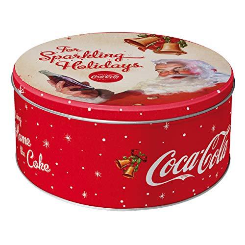 Nostalgic-Art 30607 Coca-Cola for Sparkling Holidays Boîte de conservation ronde en métal Multicolore 21 x 21 x 9 cm
