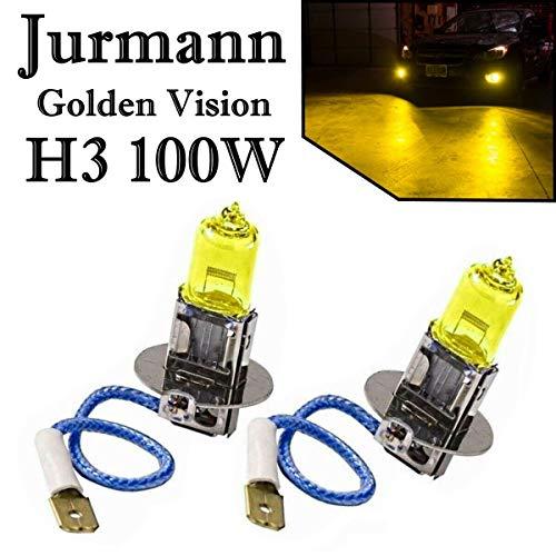 2x H3 AQUA VISION 12V 100W Gelb Yellow Halogen Lampen 2 Stück Jurmann