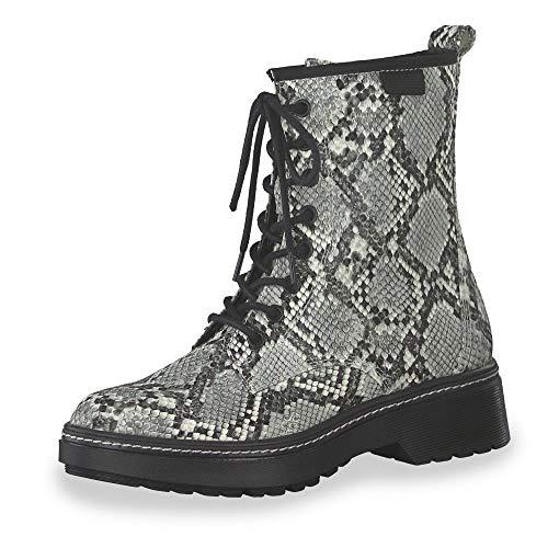 Tamaris Damen 1-1-25224-23 Biker Boots, Grau (Grey Snake 220), 39 EU